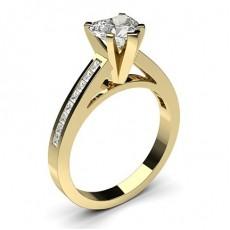 Herz Gelbgold Seitenstein Diamantringe