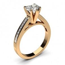 Herz Rotgold Seitensteine Verlobungsringe
