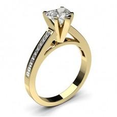 Herz Gelbgold Seitensteine Verlobungsringe
