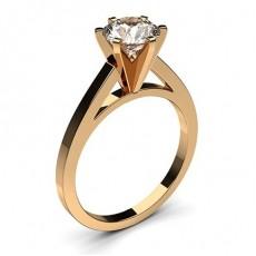 Dünner Diamant Verlobungsring in einer Krappenfassung - CLRN6_03