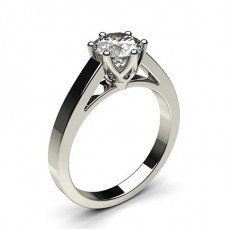 6 Prong Setting Medium Engagement Ring - CLRN7_02
