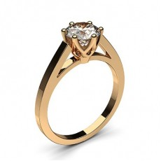 6 Prong Setting Thin Engagement Ring - CLRN7_03