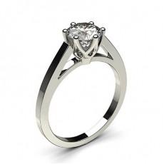 Bague de fiançailles fine solitaire diamant rond serti 6 griffes rondes - CLRN7_03