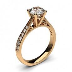 Diamant Verlobungsring in einer Krappenfassung mit großen Schulter Diamanten - CLRN9_03