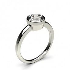 Full Bezel Setting Thin Engagement Ring - CLRN12_03