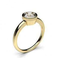 Bague de fiançailles fine solitaire diamant rond serti clos - CLRN12_03