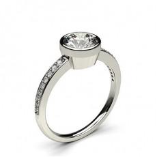 Full Bezel Setting Thin Side Stone Engagement Ring - CLRN12_06