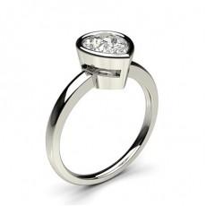 Full Bezel Setting Thin Engagement Ring - CLRN14_03