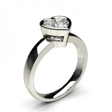 Heart Classic Solitaire Engagement Rings
