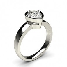 Full Bezel Setting Large Engagement Ring - CLRN14_01