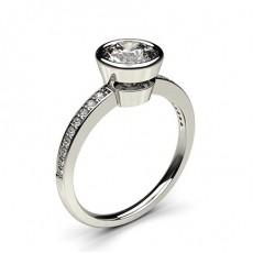Full Bezel Setting Thin Side Stone Engagement Ring - CLRN14_06