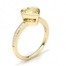 Herz Gelbgold Gelber Diamant Verlobungsringe