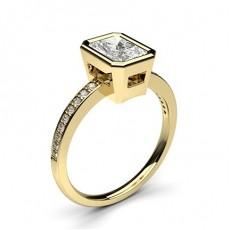 Radiant Yellow Gold Diamond Rings