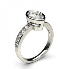 White Gold Side Stone Diamond Rings