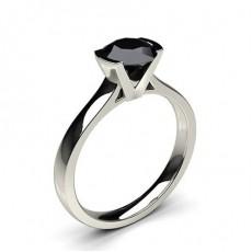 Schwarzer Diamant Verlobungsring medium in einer Halbzargenfassung - CLRN15_13