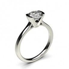 Bague de fiançailles fine solitaire diamant serti demi-clos - CLRN15_03