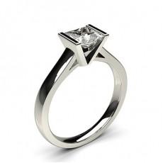 Medium Diamant Ring in einer halben Zargenfassung  - CLRN16_02
