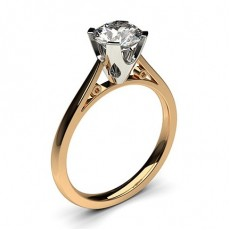 03df8b17694ae Bague de fiançailles fine solitaire diamant serti 4 griffes rectangles -  CLRN17 02