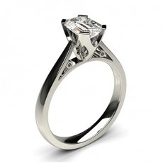 Emerald White Gold Classic Solitaire Engagement Rings