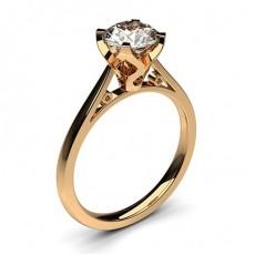 Dünner Diamant Verlobungsring in einer Krappenfassung - CLRN18_01