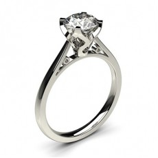 4 Prong Setting Thin Engagement Ring - CLRN18_01