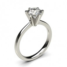 6 Prong Setting Thin Engagement Ring - CLRN19_03