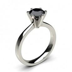 6 Prong Setting Medium Engagement Black Diamond Ring - CLRN19_07