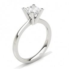 Bague de fiançailles fine solitaire diamant serti 4 griffes carrées - CLRN20_03