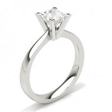 Bague de fiançailles standard solitaire diamant serti 4 griffes carrées - CLRN20_02