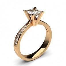 Prinzessin Rotgold Diamantringe