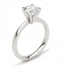 4 Prong Setting Thin Engagement Ring (Available from 0.20ct. to 3.00ct.)
