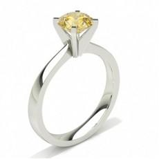 Rond Bagues de fiançailles en diamant jaune