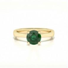 Gelbgold Smaragd Verlobungsringe