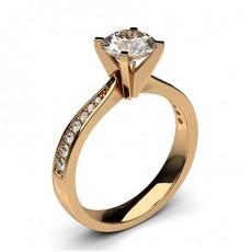Diamant Verlobungsring in einer Krappenfassung mit großen Schulter Diamanten - CLRN20_04
