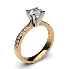 4 Prong Setting Large Side Stone Engagement Ring - CLRN20_04