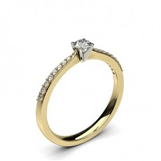4 Prong Setting Side Stone Engagement Ring - CLRN020_07