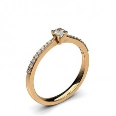 Rose Gold Promise Diamond Rings