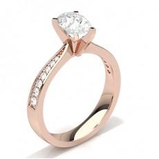 Tropfen Rotgold Seitensteine Verlobungsringe