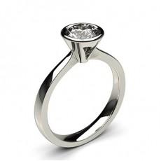 Full Bezel Setting Medium Engagement Ring - CLRN21_02