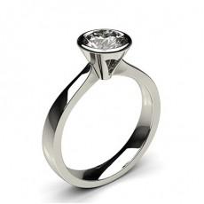 Full Bezel Setting Large Engagement Ring - CLRN21_01