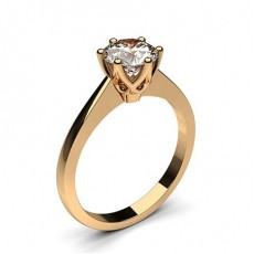 6 Prong Setting Thin Engagement Ring - CLRN22_02