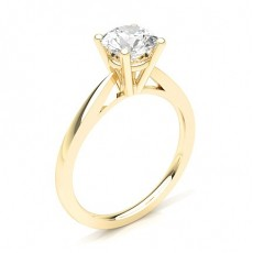 4 Prong Setting Thin Engagement Ring - CLRN23_03