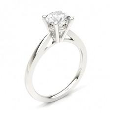 Bague en diamant fine solitaire diamant serti 4 griffes rondes