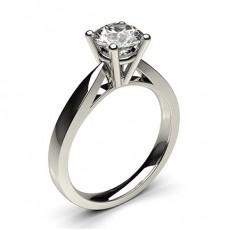 White Gold Round Diamond Engagement Ring - CLRN23_02