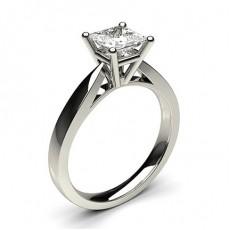 Bague de fiançailles standard solitaire diamant serti 4 griffes rondes - CLRN23_02