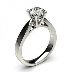 Bague de fiançailles large solitaire diamant serti 4 griffes rondes - CLRN23_01