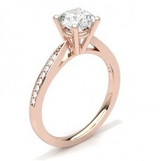 4 Prong Setting Thin Side Stone Engagement Ring - CLRN23_04