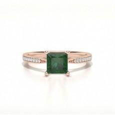 Prinzessin Smaragd Verlobungsringe