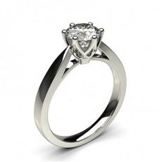 Bague en diamant standard solitaire diamant rond serti 6 griffes rondes