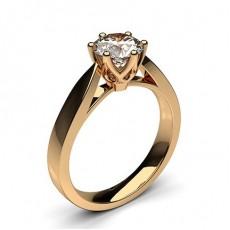 Großer Diamant Verlobungsring in einer Krappenfassung - CLRN24_01